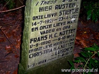 Grafmonument grafsteen Frans Hendrik Cornelis  Kotten