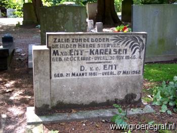 Grafmonument grafsteen Dirk van der Ent
