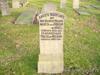 Grafmonument grafsteen Paulus van Rossum