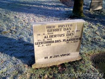 Grafmonument grafsteen Gerrit  Das