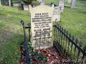 Grafmonument grafsteen Helena  Hasselaar