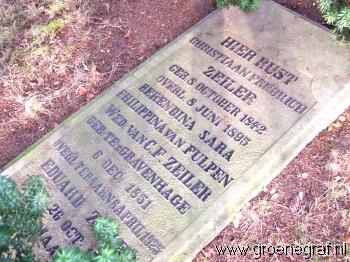 Grafmonument grafsteen Berendina Sara Philippina van Fulpen