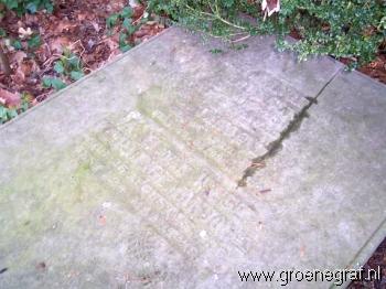 Grafmonument grafsteen Lambertus  Lingeman