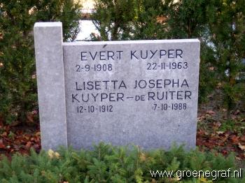 Grafmonument grafsteen Evert  Kuijper