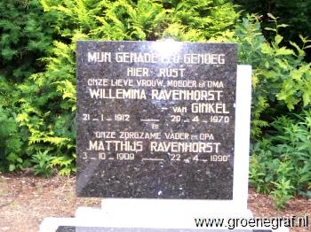 Grafmonument grafsteen Willemina van Ginkel