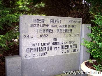 Grafmonument grafsteen Gerharda van Diermen