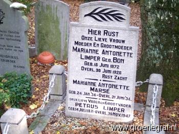 Grafmonument grafsteen Petrus  Limper