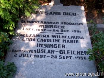 Grafmonument grafsteen Alexandra Wilhelmina Emma Caroline Marie von Uslar-Gleichen