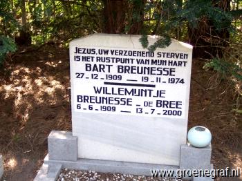 Grafmonument grafsteen Bart  Breunesse