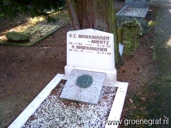 Grafmonument grafsteen Nicolaas  Broekhuijsen