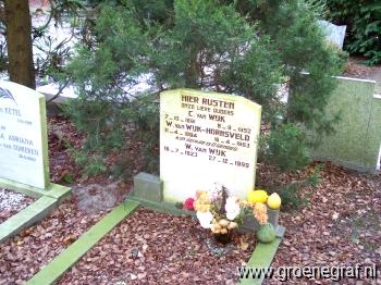 Grafmonument grafsteen Wilhelmina  Hornsveld