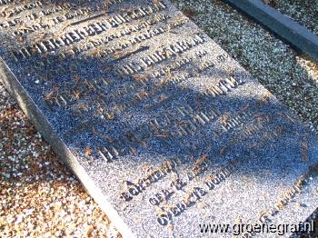 Grafmonument grafsteen Pieter Louis  Burggraaf