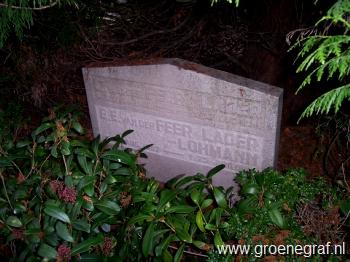 Grafmonument grafsteen Elisabeth Emilie  Lohmann