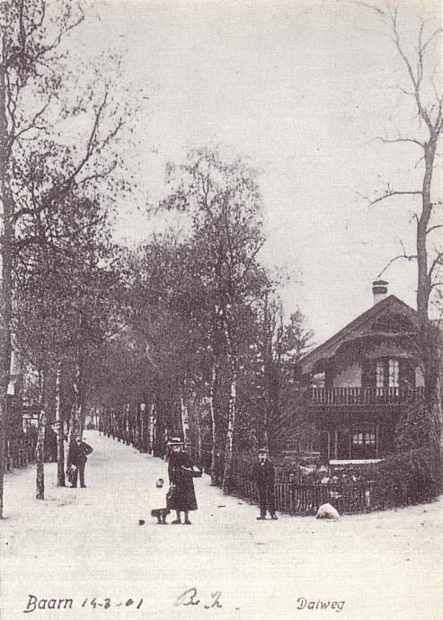 Zwitserse huis hoek Dalweg / Berkenweg gebouwd