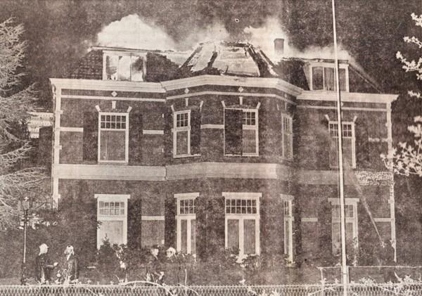 Bovenverdieping Louisa State afgebrand