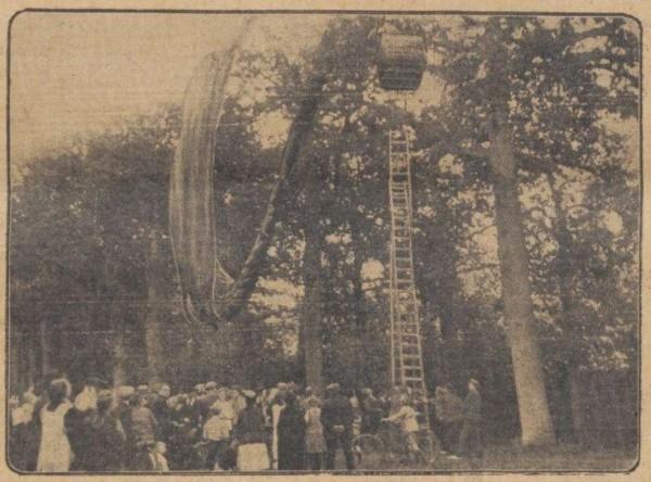 Luchtballon crasht bij kasteel Groeneveld