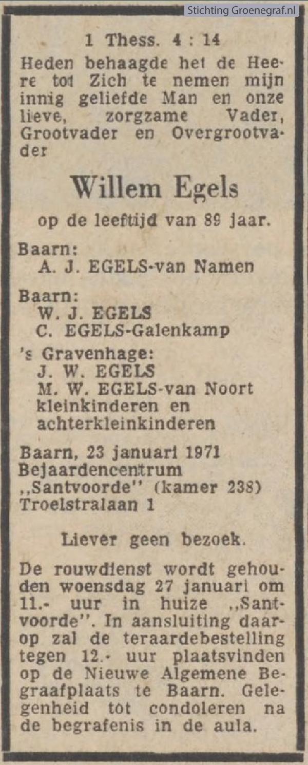 Afbeelding bij Willem  Egels