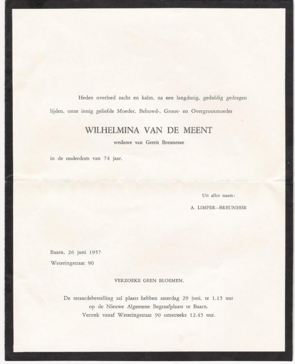 Afbeelding bij Wilhelmina van de Meent