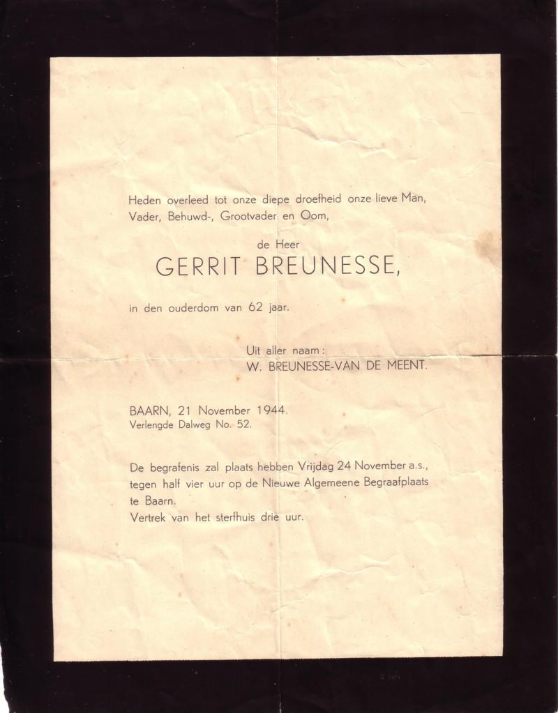 Afbeelding bij Gerrit  Breunesse