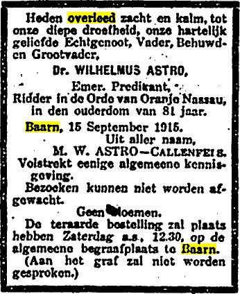 Afbeelding bij Wilhelmus  Astro