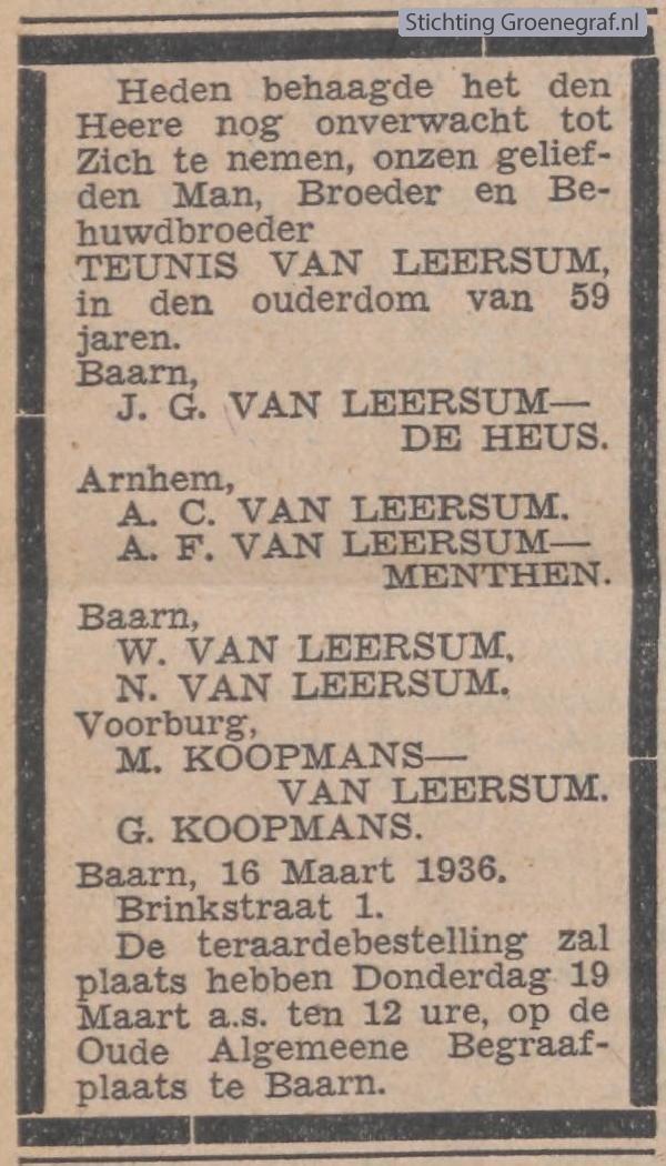 Afbeelding bij Willem van Leersum