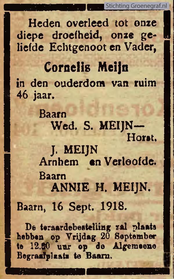 Afbeelding bij Cornelis  Meijn