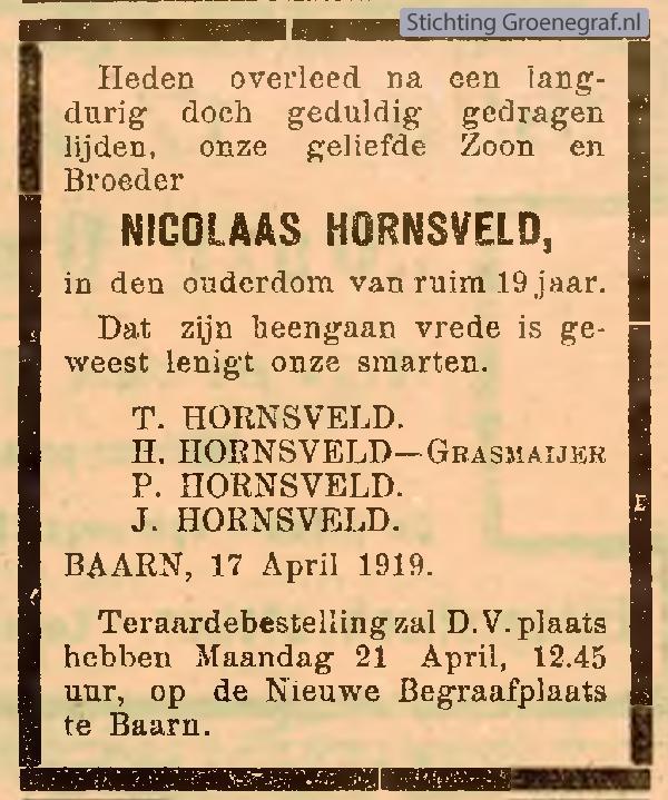 Afbeelding bij Nicolaas  Hornsveld