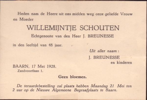 Afbeelding bij Willemijntje  Schouten